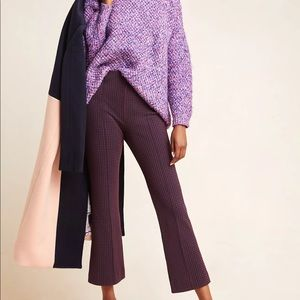 Anthro The Essential Crop Flare Pants